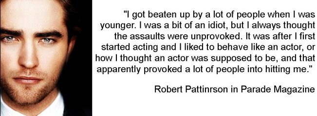 Robert Pattinson was bullied