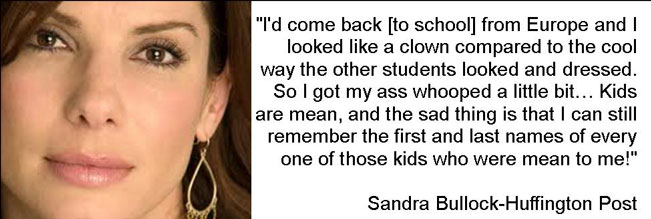 Sandra Bullock Was Bullied