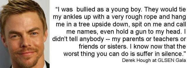 Derek Hough on bullying