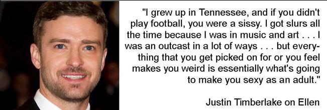 Justin Timberlake was bullied