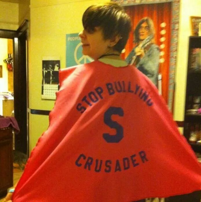 Michelle Gipson In Anti-bullying Cape