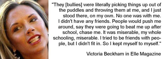 Victoria Beckham was bullied